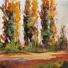 Changing Seasons 2 by Karen  Hale (Acrylic Painting)