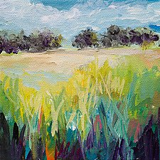 Distant Trees 2 by Karen  Hale (Acrylic Painting)