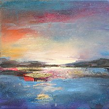 Sunset at Sea by Karen  Hale (Acrylic Painting)