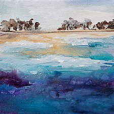 Off Shore 2 by Karen  Hale (Acrylic Painting)