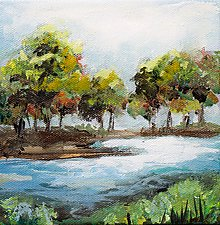 Riverside by Karen  Hale (Acrylic Painting)