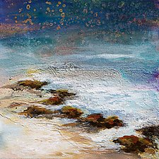 Rocks and Water by Karen  Hale (Acrylic Painting)