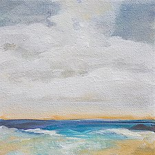Looking at Clouds by Karen  Hale (Acrylic Painting)