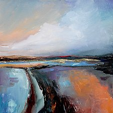Surface and Sky by Karen  Hale (Acrylic Painting)