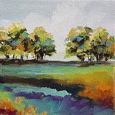 Tree Line by Karen  Hale (Acrylic Painting)