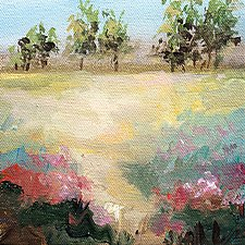 A Dash of Pink by Karen  Hale (Acrylic Painting)