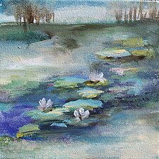 Lily Pond by Karen  Hale (Acrylic Painting)