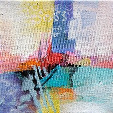 Moving Pieces III by Karen  Hale (Acrylic Painting)