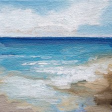 Summer Shore by Karen  Hale (Acrylic Painting)