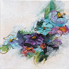 Blue Essence II by Karen  Hale (Acrylic Painting)