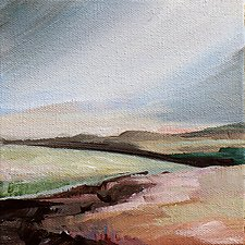 Tranquil 1 by Karen  Hale (Acrylic Painting)
