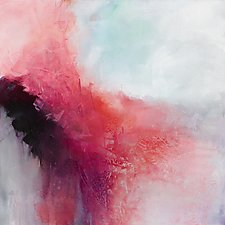 Pink Persuasion by Karen  Hale (Acrylic Painting)