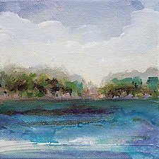 Along the Banks by Karen  Hale (Acrylic Painting)