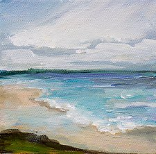 Beachside 2 by Karen  Hale (Acrylic Painting)