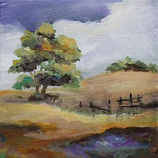 Hills of Home by Karen  Hale (Acrylic Painting)