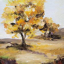 Autumn Gold by Karen  Hale (Acrylic Painting)