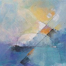 Tangents 3 by Karen  Hale (Acrylic Painting)