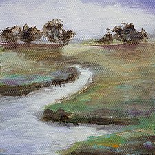 Lazy Stream by Karen  Hale (Acrylic Painting)