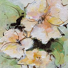 Flower Forms 1 by Karen  Hale (Acrylic Painting)