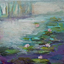 Lilies by Karen  Hale (Acrylic Painting)