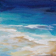 Toes in the Sand by Karen  Hale (Acrylic Painting)