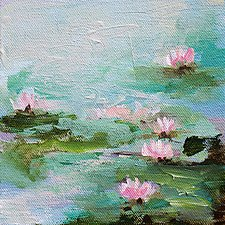 Spring Collection 3 by Karen  Hale (Acrylic Painting)
