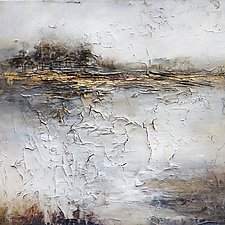 Solitary Scene by Karen  Hale (Mixed-Media Painting)
