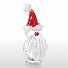 Santa by Gabriel  Bloodworth (Art Glass Paperweight)