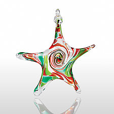 North Star by Mariel Waddell and Alexi Hunter (Art Glass Ornament)
