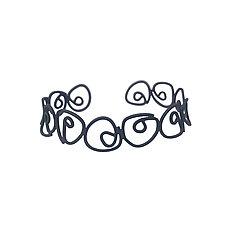 Labyrinth Narrow Cuff Bracelet by Theresa Kwong (Silver Bracelet)