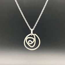 Labyrinth Small Pendant by Theresa Kwong (Silver Necklace)