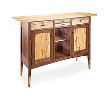 Spalted Console Cabinet by Tom Dumke (Wood Console Table)