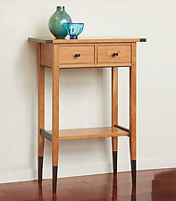 Cherry Two-Drawer Hall Table by Tom Dumke (Wood Side Table)
