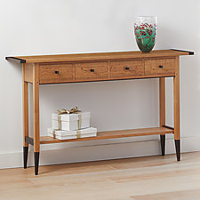 Solid Cherry Table by Tom Dumke (Wood Console Table)