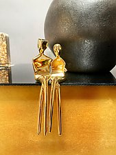 Gold-Plated Caress by Yenny Cocq (Gold Sculpture)