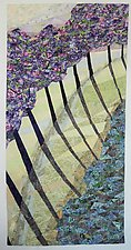 Shadows Lie Soft by Linda Beach (Fiber Wall Hanging)