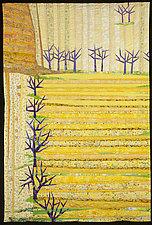 Straight Furrows by Linda Beach (Fiber Wall Hanging)
