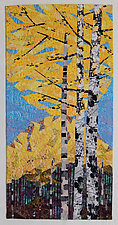 Nothing Gold Can Stay by Linda Beach (Fiber Wall Hanging)