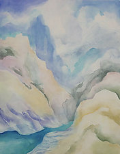 Mountainscape V by Linda Jacobson (Acrylic Painting)