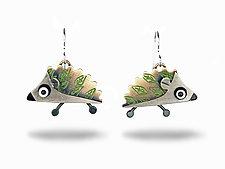 Hedgehog Earrings by Lisa and Scott  Cylinder (Metal Earrings)