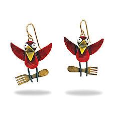 Fast Food Earrings by Lisa and Scott  Cylinder (Metal Earrings)