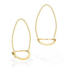 Open Basket Earrings by Susan Panciera (Gold Earrings)