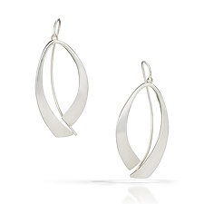 Forward Fold Earrings by Susan Panciera (Silver Earrings)