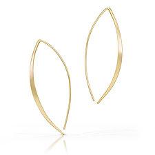 Golden Wings Earrings by Susan Panciera (Gold Earrings)