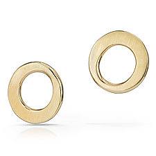 Dot Earrings by Susan Panciera (Gold Earrings)