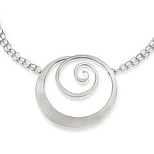 Bold Spiral Necklace by Susan Panciera (Silver Necklace)