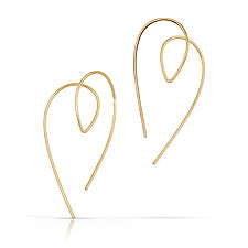 Golden Cupid Earrings by Susan Panciera (Gold Earrings)