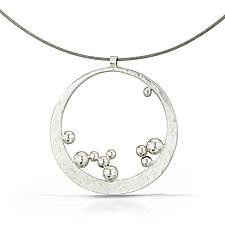 Bubbles Pendant by Susan Panciera (Silver Necklace)