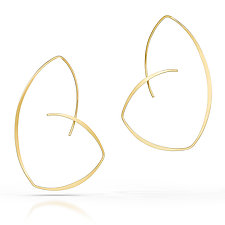 Golden Reuleaux Hoop Earrings by Susan Panciera (Gold Earrings)