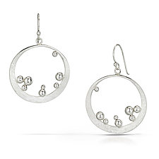 Bubbles Earrings by Susan Panciera (Silver Earrings)